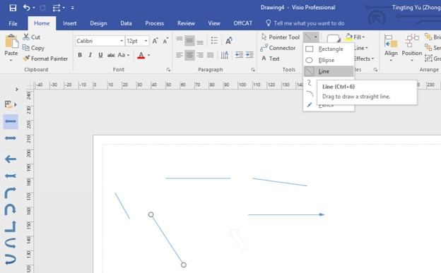 Drawing Lines With Arrows In Visio : Office visio arrows are greyed out microsoft