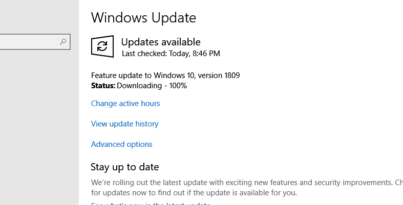 Windows Update Error 0x80240034 - Windows 10 Feature Update 1803