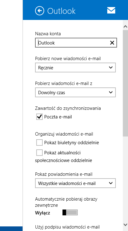 1 Microsoftmail At Abc Microsoft Com: Can't Access E-mail Account Settings In Windows 8.1 Mail