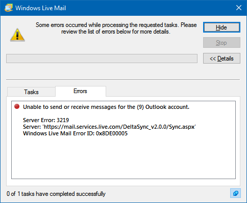 msn login error