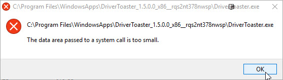 Windows 10 DriverToaster error - Microsoft Community