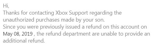 Refund request rejected by Microsoft [​IMG]