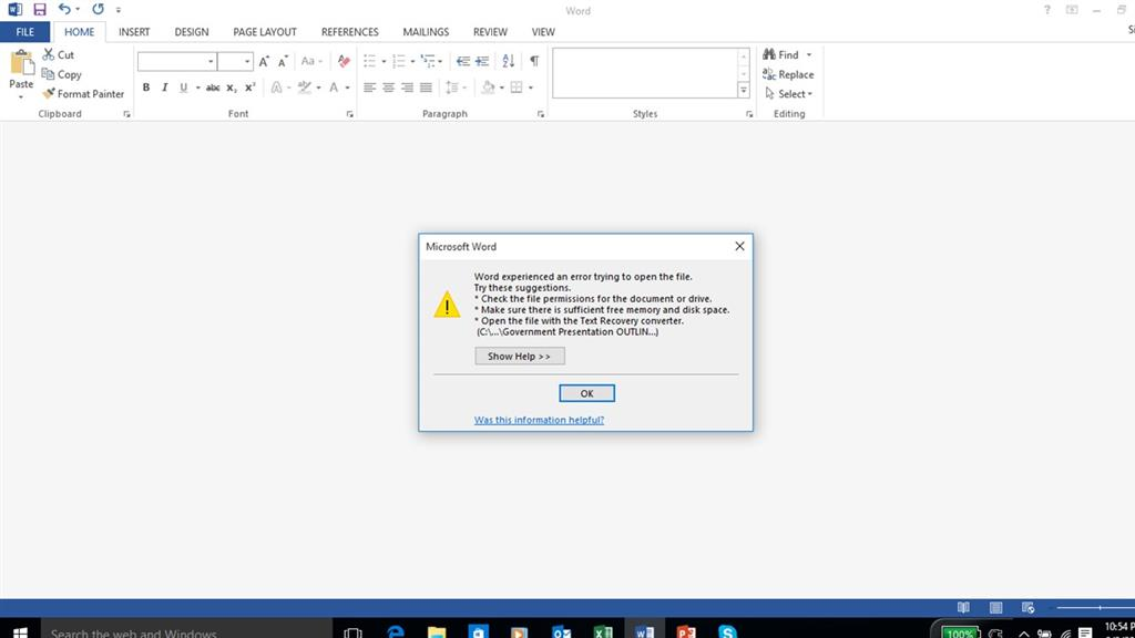 Windows 10 updgrade - now Outlook attachments won't open
