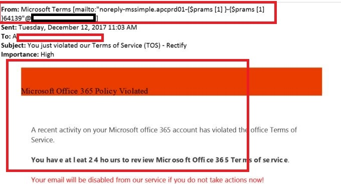 APT and Office365 Phishing email issues - Microsoft Community