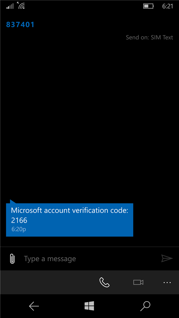 Phone Number Account Alias - Text Code not working : Error - That