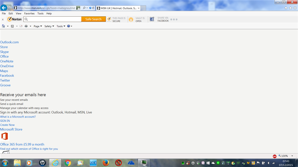 Strange msn screen after exiting outlook microsoft community image publicscrutiny Images