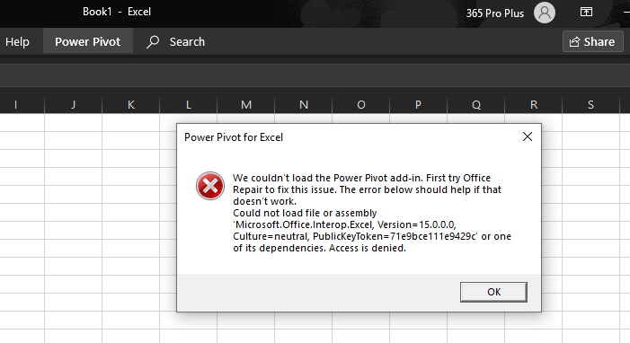 Power pivot not working in Office 365 ProPlus - Microsoft
