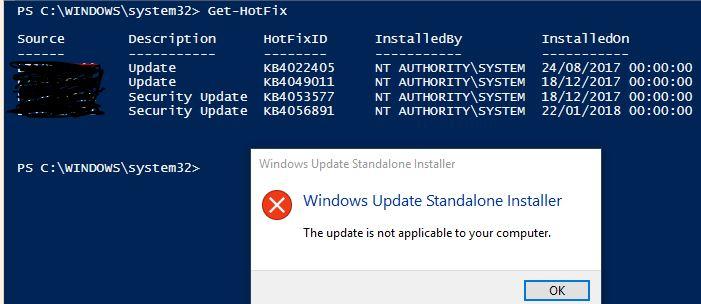 2018-01 Cumulative Update for Windows 10 Version 1709 for