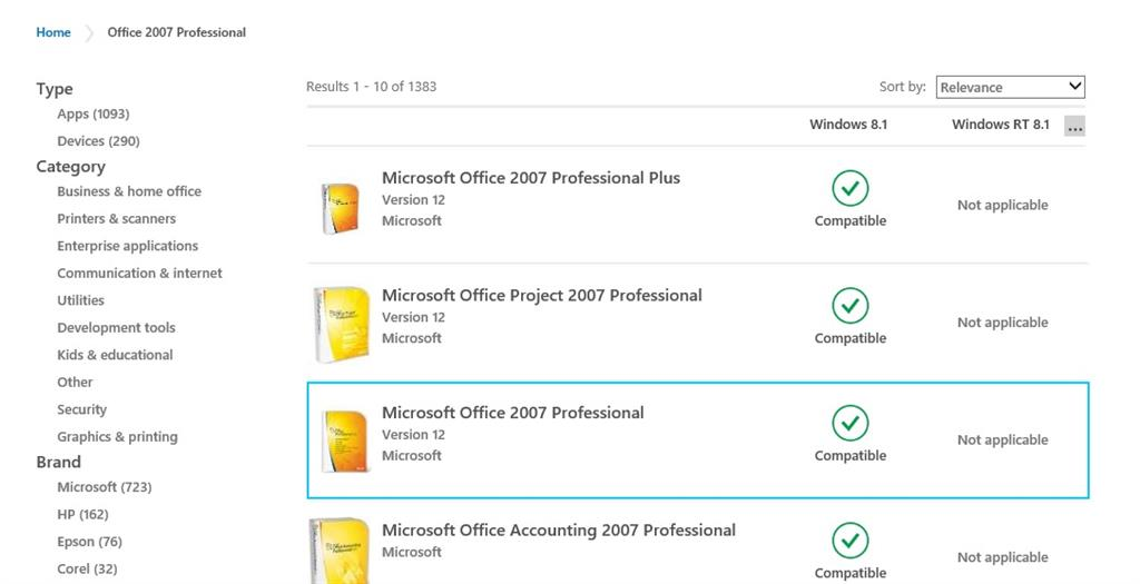 microsoft office windows 10 compatibility