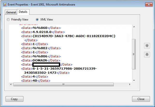 c get info from general tab of event from event viewer