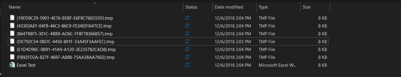 Office Keep Creating tmp Files when I Save It - Microsoft Community