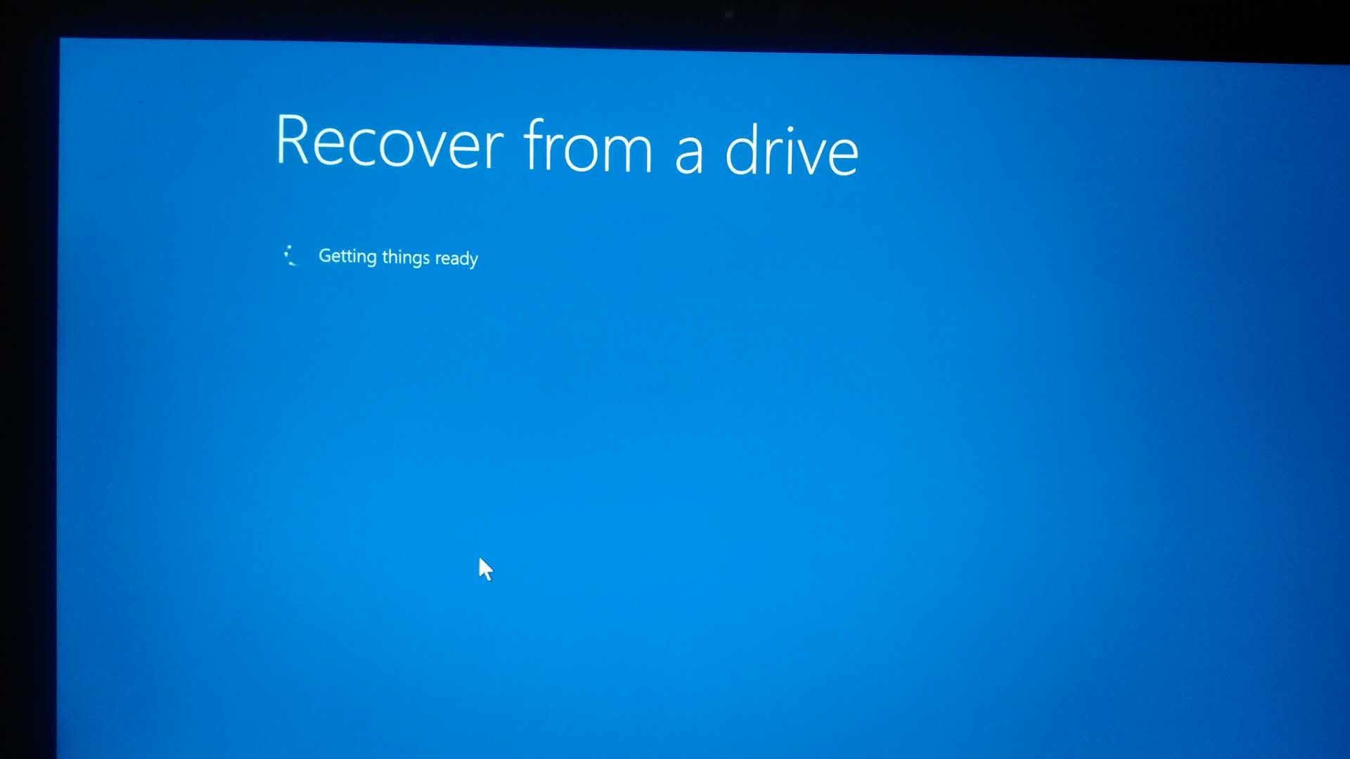Cannot perform factory reset in my Surface book using USB
