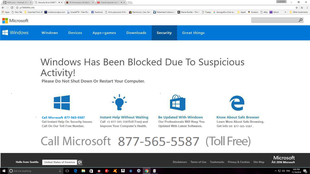 Fake MS site