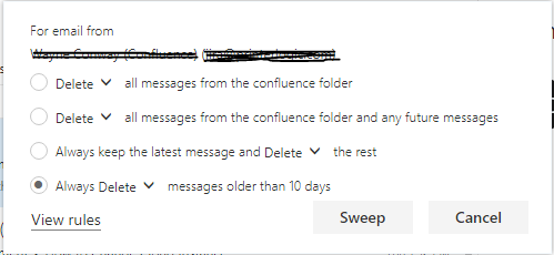 Sweep Rules Don't Run Automatically - Microsoft Community