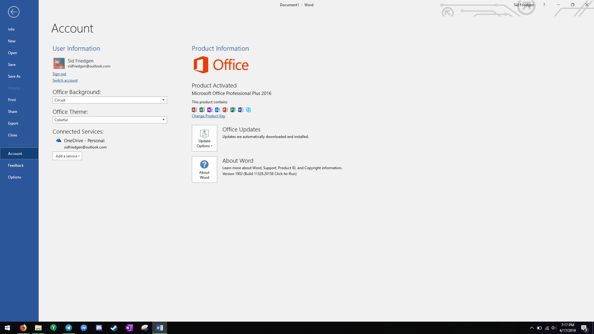 Office 2019 downgraded itself to 2016? - Microsoft Community