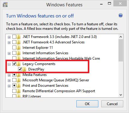 скачать directplay для виндовс 8.1