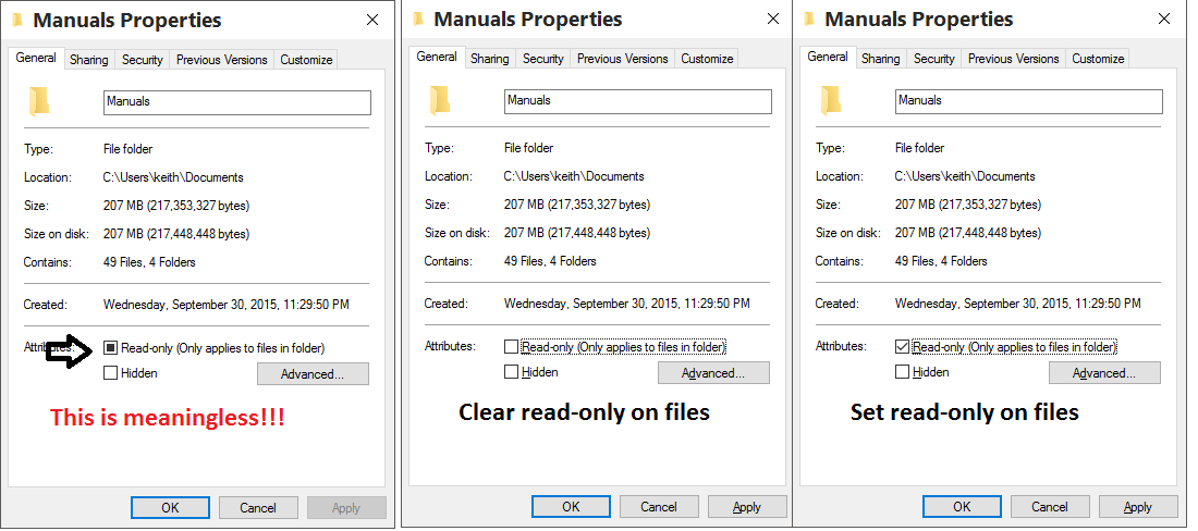 windows 10 cant change read only attribute