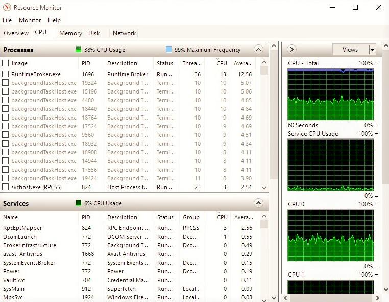 Runtime Broker high CPU usage - Microsoft Community